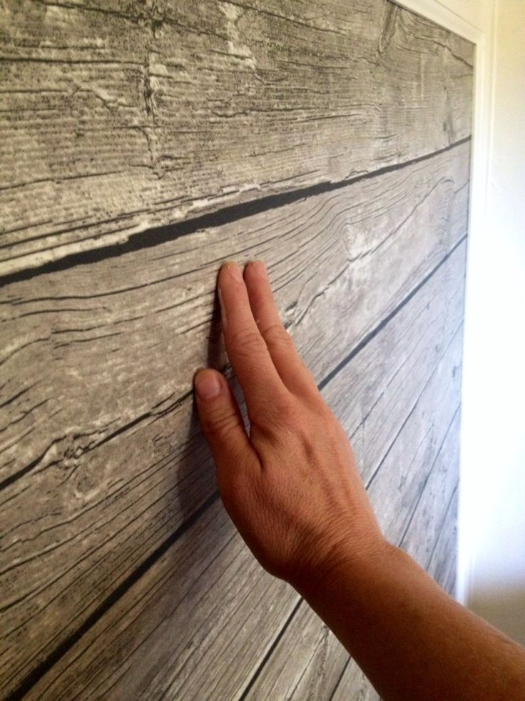 This is NOT real wood! Ikea plastic sheeting - amazing idea!