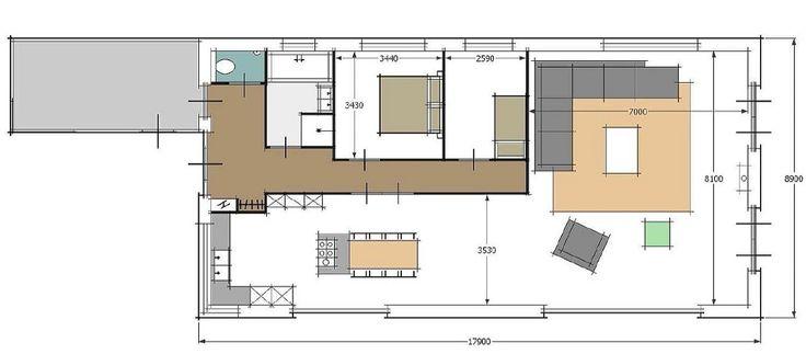 Meer dan 1000 afbeeldingen over plattegrond op pinterest tuinen studio 39 s en huisdesign - Voorbeeld van de slaapkamer ...