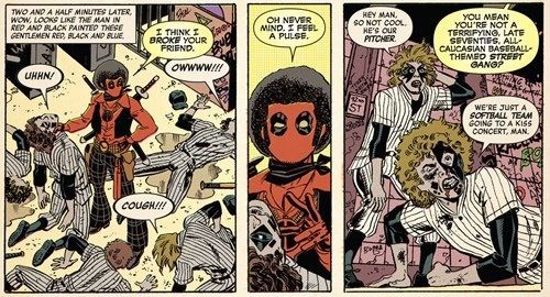 Deadpool with an Afro.