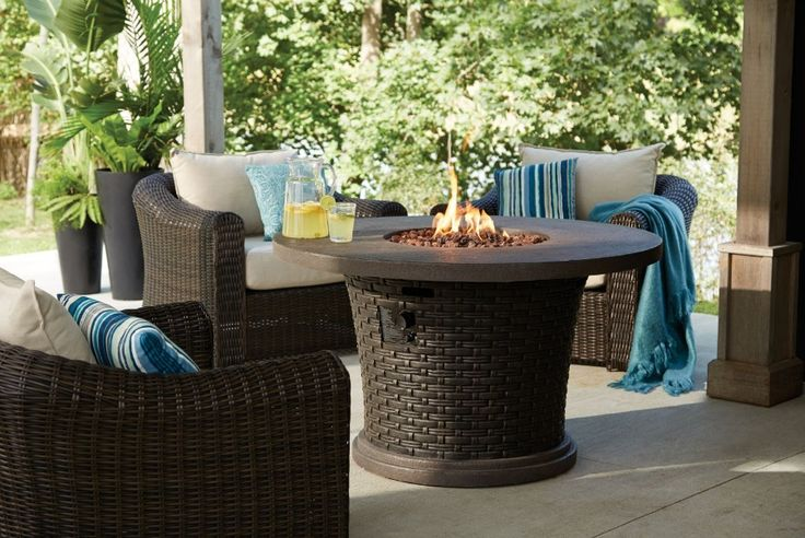 1000 images about beaux exterieurs on pinterest fire for Table exterieur walmart