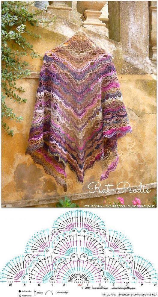 Красивая шаль | Шаль | Постила