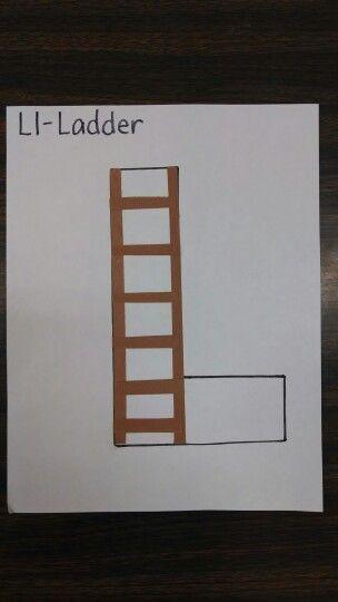 Letter L craft / project pre-k preschool - ladder