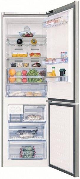 Chladnička s Active DUAL COOLING systémem, který zajišťuje ideální podmínky pro skladování potravin. Podstatně delší čerstvost potravin je zajištěna díky udržování optimální úrovně vlhkosti a stabilní teploty. Chytrá chladnička Beko CN 136241 X