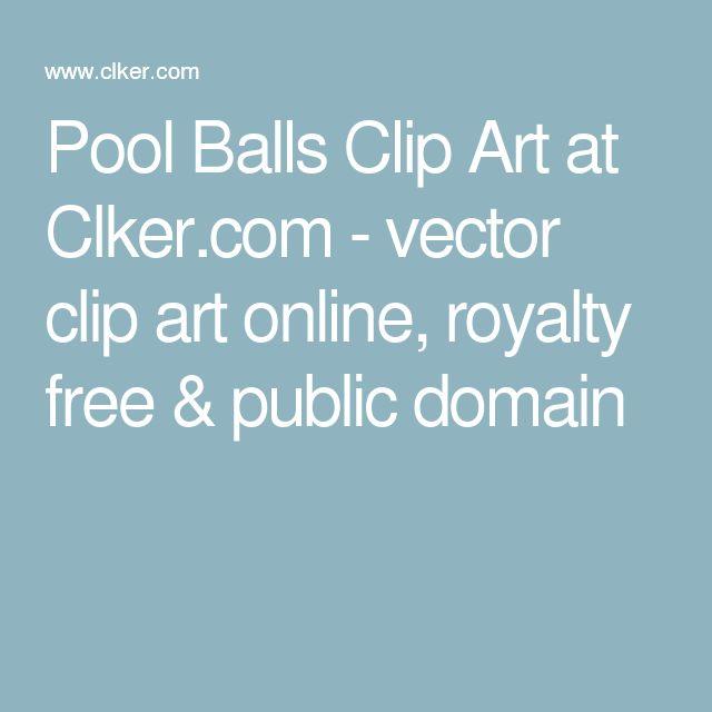 Pool Balls Clip Art at Clker.com - vector clip art online, royalty free & public domain