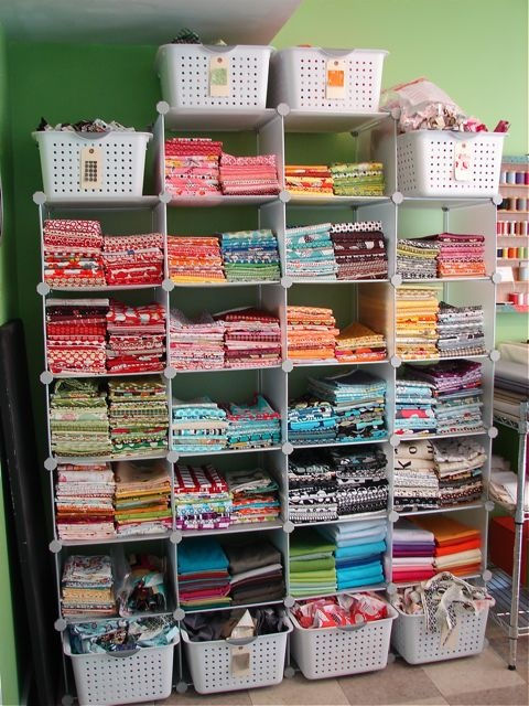 Quilting Room Design Ideas Part - 29: For My Mom...quilting Studio Stash Organization - Like The Tags On The