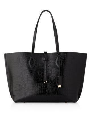 WHISTLES Embossed Leather Tote. #whistles #bags #leather #hand bags #tote #