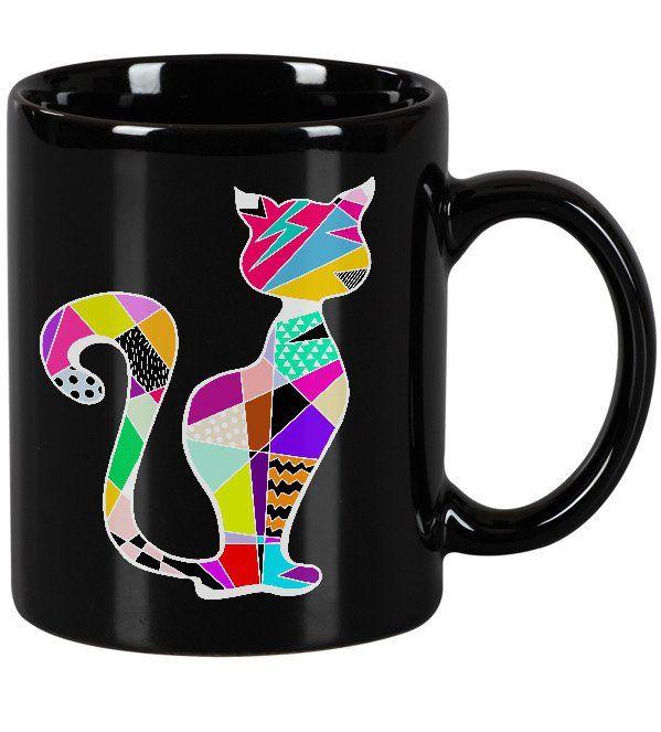 Kubek ceramiczny GEOMETRIC CAT KOT KOTY