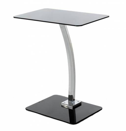 Moderna mesa auxiliar para colocar en cualquier rincón de tu hogar. De color negro, te encantará por su estilo y elegancia. ¡Un mueble que no puede faltar en hogares como el tuyo!