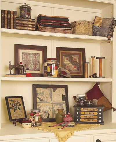 Vintage decorating ideas nice display for a sewing room for Quilt room design ideas