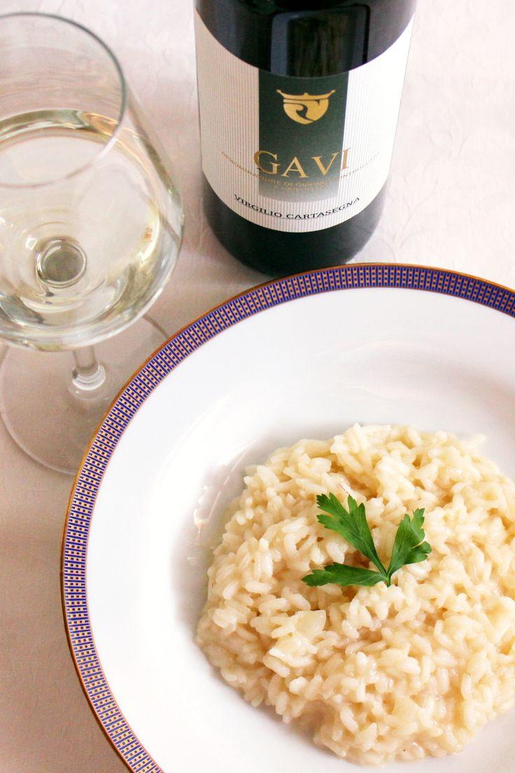 #Risotto al #Gavi con Gavi DOCG. Scopri la #ricetta http://www.vinicartasegna.it/ricetta-risotto-al-gavi/
