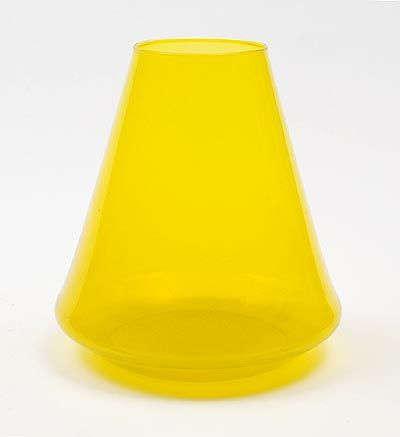 Found on www.botterweg.com - Helios yellow vase from the Industrial series design A.D.Copier 1961 middle one of the 3 sizes executed by Glasfabriek Leerdam / the Netherlands