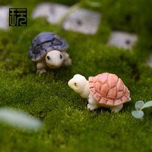 Mini modelo de la tortuga de jardín de hadas miniaturas DIY Doll House / terrario / de escritorio en casa / suculentas / Micro paisaje decoración(China (Mainland))