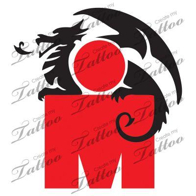 Marketplace Tattoo ironman triathlon dragon #14645 | CreateMyTattoo.com