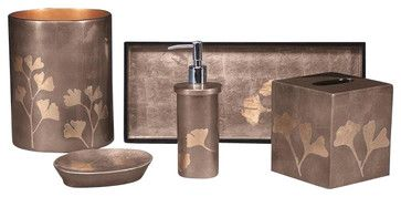 Ginko Bath Set transitional-bathroom-accessories
