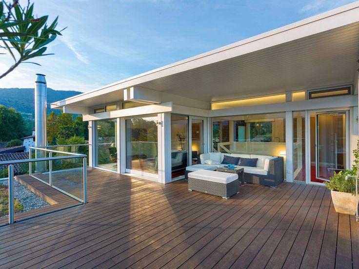 17 besten terrasse und balkon bilder auf pinterest for Musterhaus flachdach