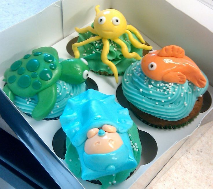 Undersea Baby Shower Theme | ... Home Bakery: Baby Shower Cupcakes With  Under