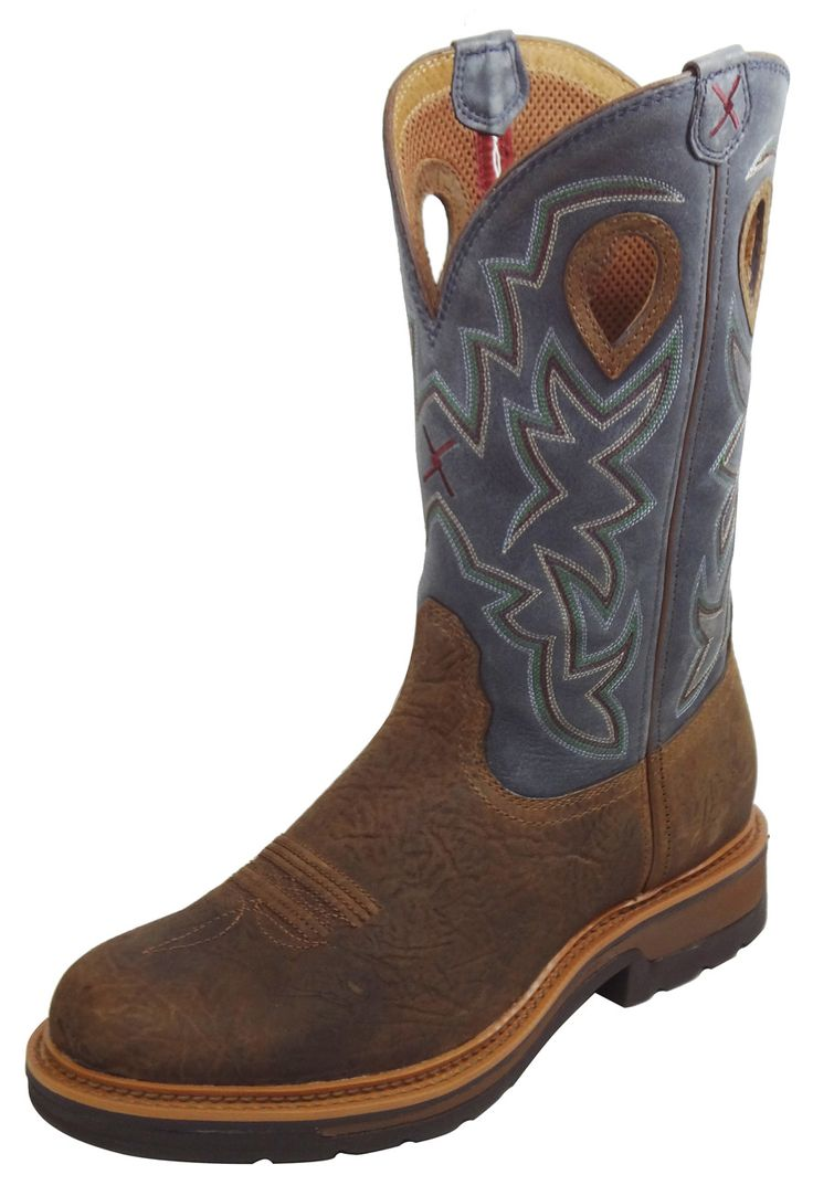 Twisted X Western Cowboy Steel Toe Work or Motocycle Boots !! Mens 11 D