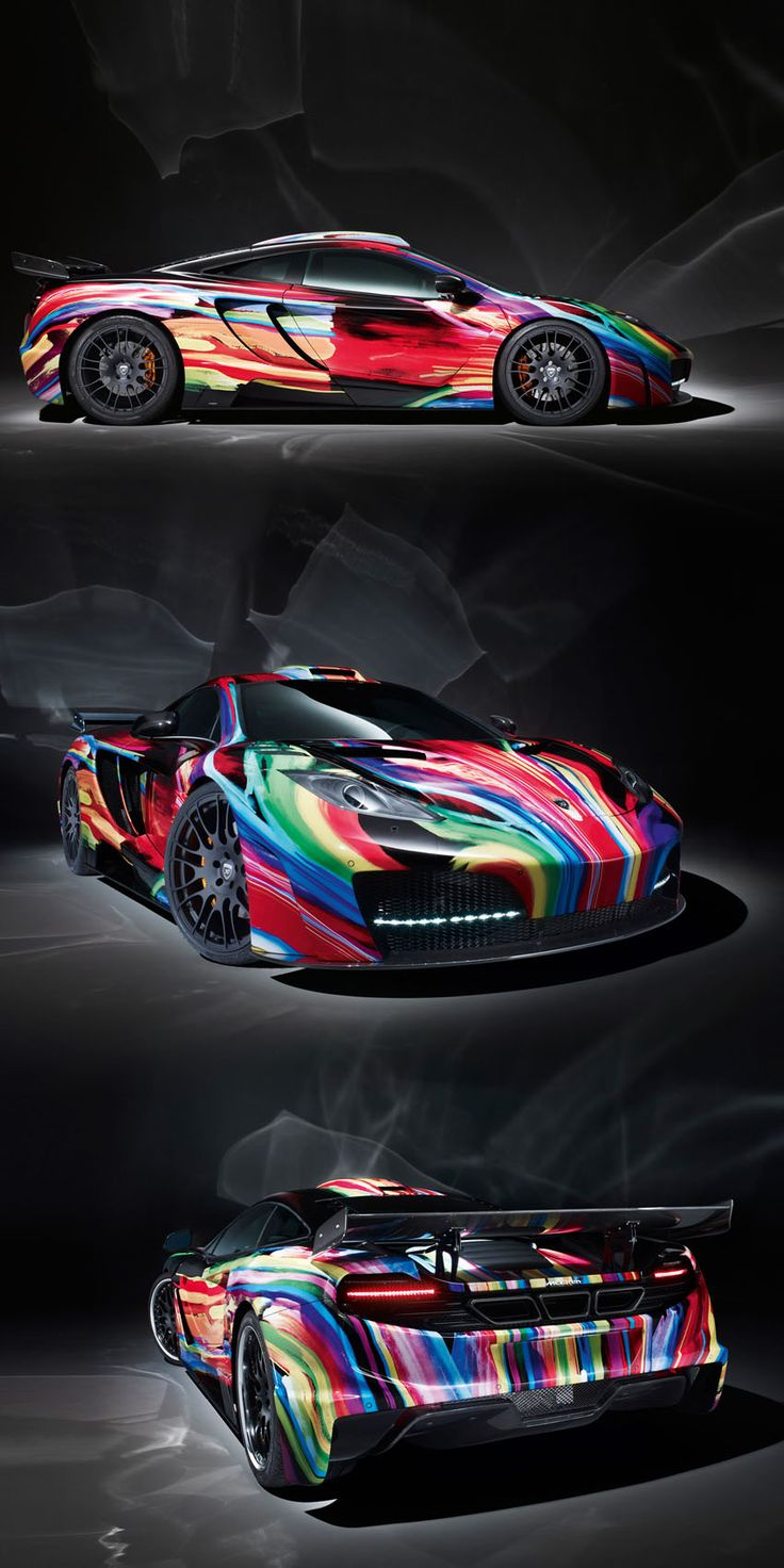 The 2012 hamann mclaren memor art car comes with a colorful exterior similar to the one on bmw art cars the multi colored car features an aerodynamic body
