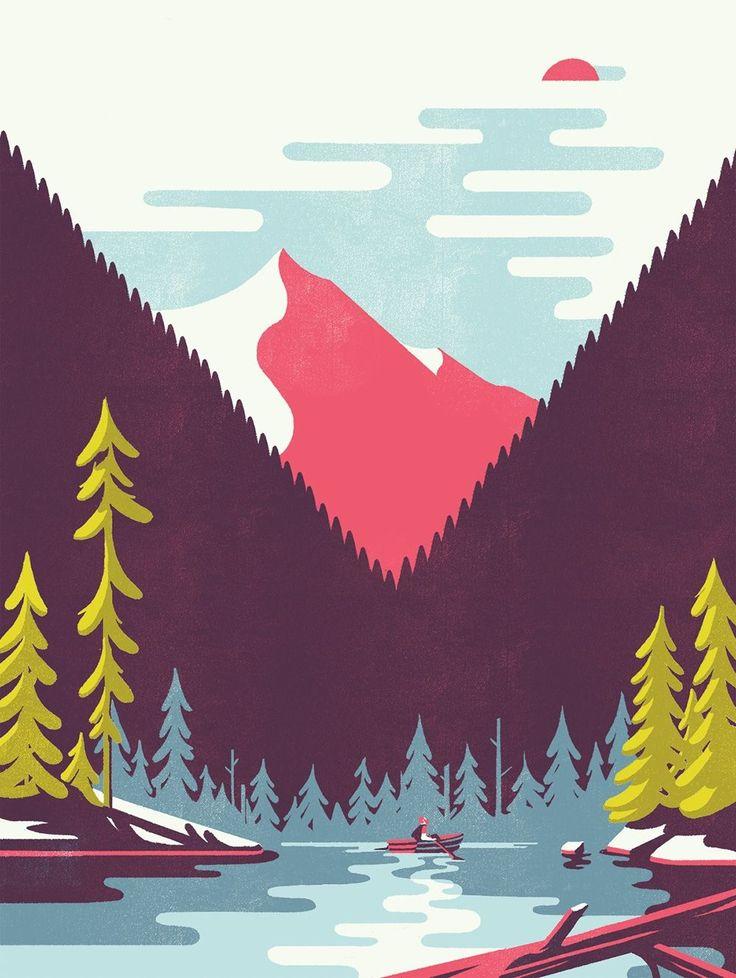 Tom Haugomat's illustrations have us longing for summer holidays - Digital Arts
