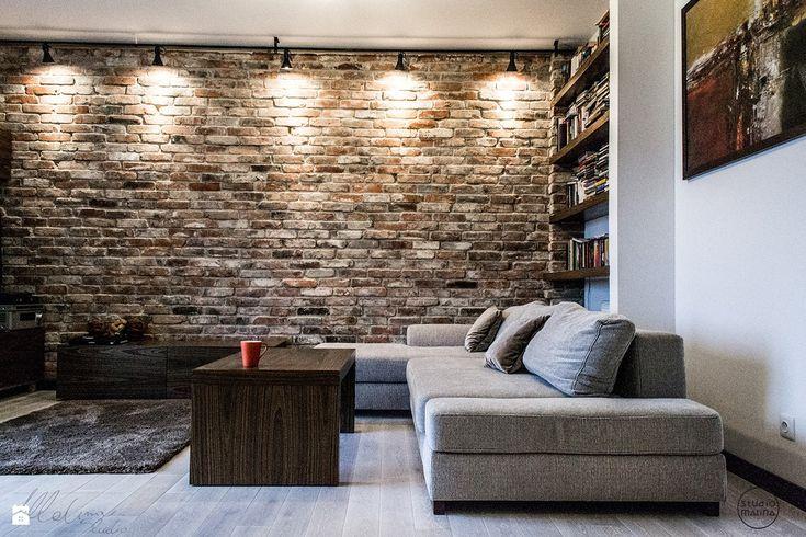 Mieszkanie pod Warszawą – Józefosław – salon - Salon - Studio Malina – Architekci & Projektanci wnętrz