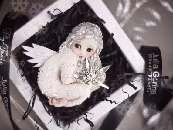 МК брошь Рождественский ангел! (эксклюзив) - Ярмарка Мастеров - ручная работа, handmade