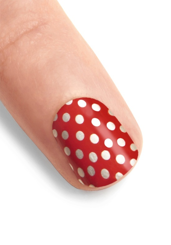 You've Got Nail Stickers in Dotted Cherry from Mod Cloth