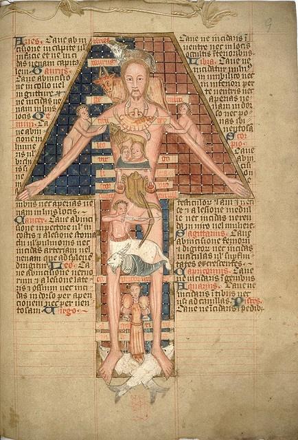 Astronomical calendar, etc. late 14th century Bodleian Library