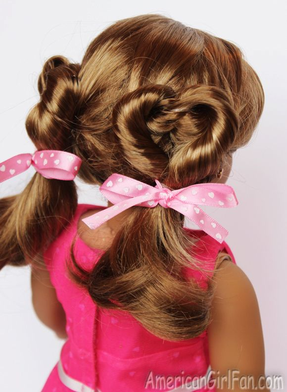 Valentine's Day Heart Pigtails! (Click through for tutorial)