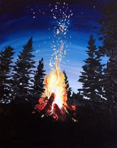 Flickering Flames at The Ridge Pub and Eatery - Paint Nite Events near Edmonton, AB>