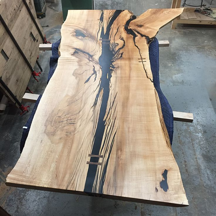 black epoxy table top knots - Google Search