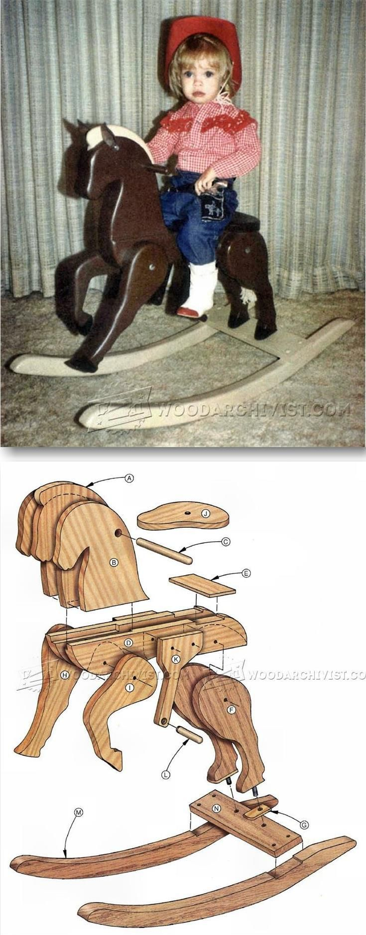 Wooden Rocking Horse Plans - Children's Woodworking Plans and Projects   WoodArchivist.com