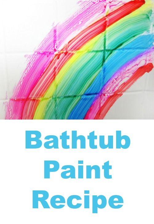 A super easy DIY bathtub paint recipe -- Let kids paint in the bath!