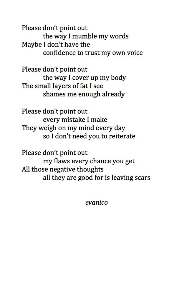 The reality of living with an eating disorders.