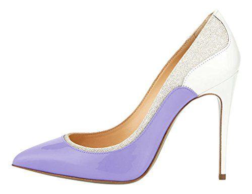 MONICOCO Übergröße Süßigkeit Farben Damenschuhe Spitze Zehen Geschlossene Toe Patchwork Pumps mit Stiletto Absatz Lila 42.5 EU - http://on-line-kaufen.de/monicoco/42-5-eu-monicoco-bergroesse-suessigkeit-farben-5