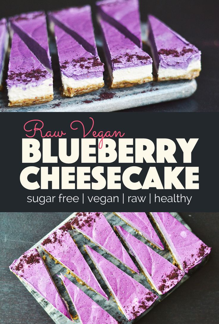 Easy Raw Vegan Blueberry Cheesecake that can be made in no time at all and with very few steps. I made this cake in 20 minutes!