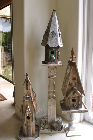 Weird Bird Studio: Bird houses, can you have too many???
