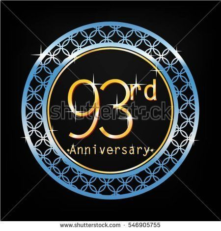 black background and blue circle 93rd anniversary for business and various event