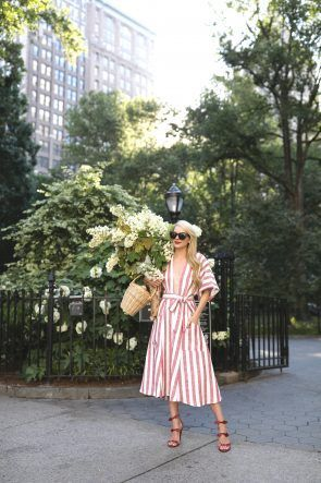 RED, WHITE & BLOOMS // REFORMATION DRESS