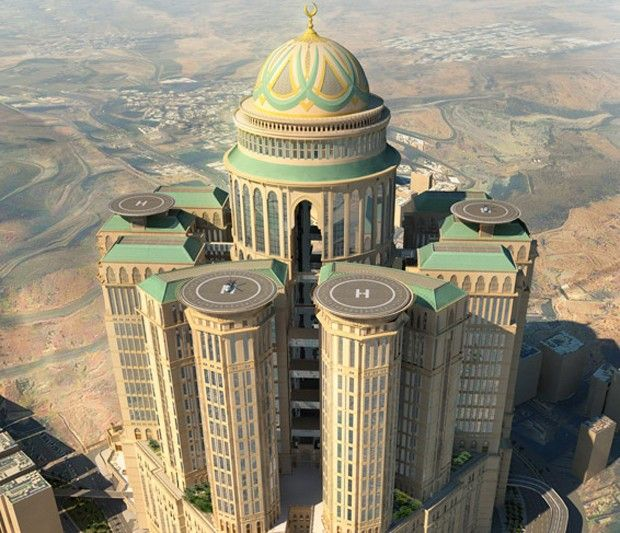 Com dez mil quartos, o maior hotel do mundo está sendo construído em Meca glo.bo/1F5YQF4
