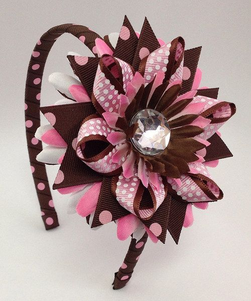 This adorable headband boasts a sparkling flower and durable construction…
