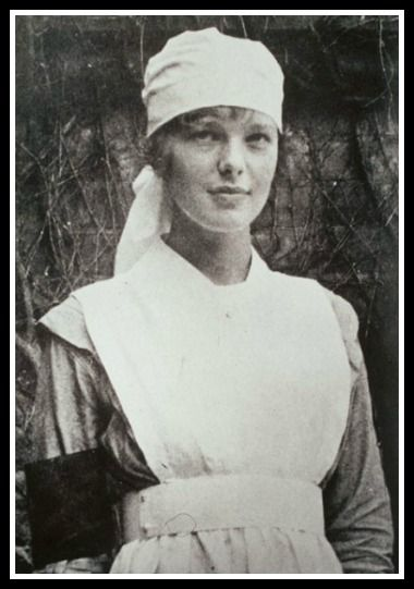 Amelia Earhart was a nurse during WWI.