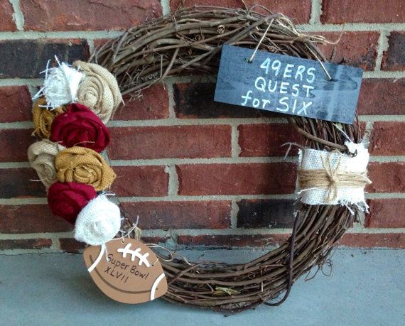 SanFrancisco 49ers Wreath on Etsy, $40.00