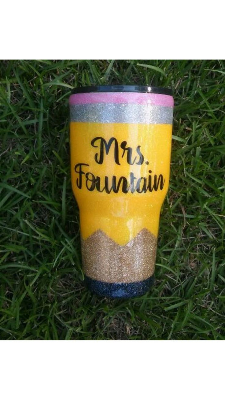 Pencil tumbler, glitter pencil, pencil cup, teacher tumbler, glitter dipped, personalized, Yeti, Rtic, Ozark, custom tumbler, teacher gift by HerrinHillCreations on Etsy https://www.etsy.com/listing/554308209/pencil-tumbler-glitter-pencil-pencil-cup #appreciationgifts