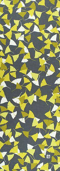 いちょうみJapanese tenugui Ginkgo leaves
