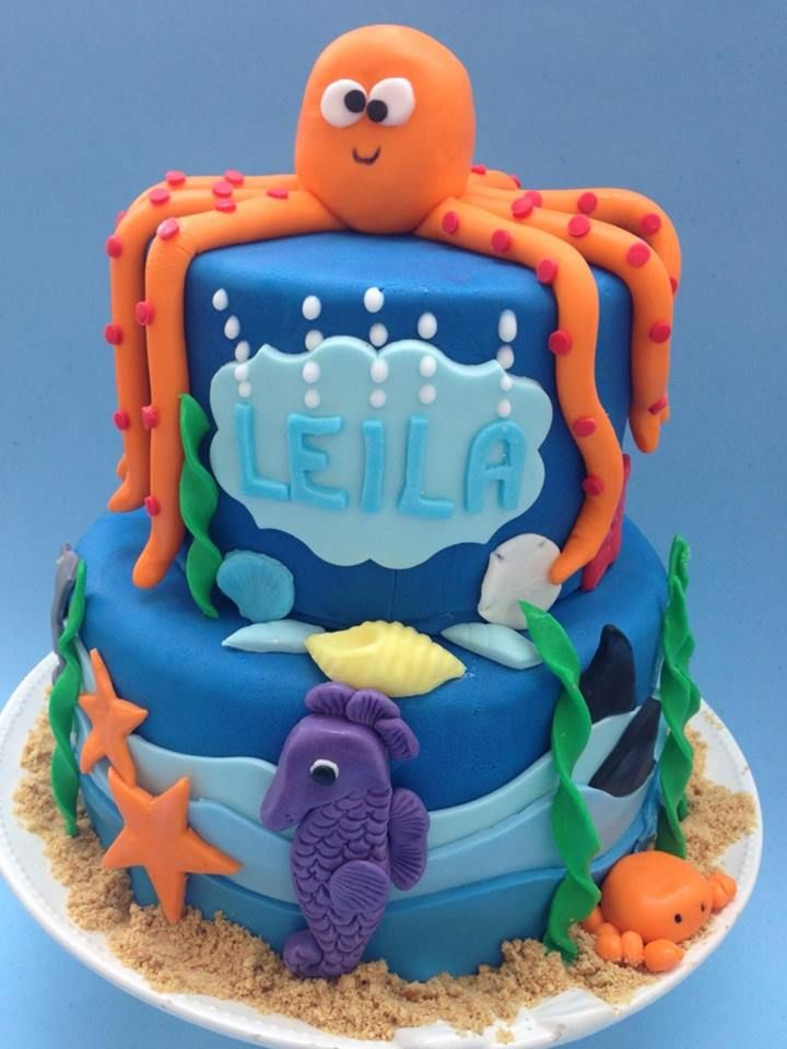 Under The Sea A Two Tiered Cake For A 10 Year Old Girl