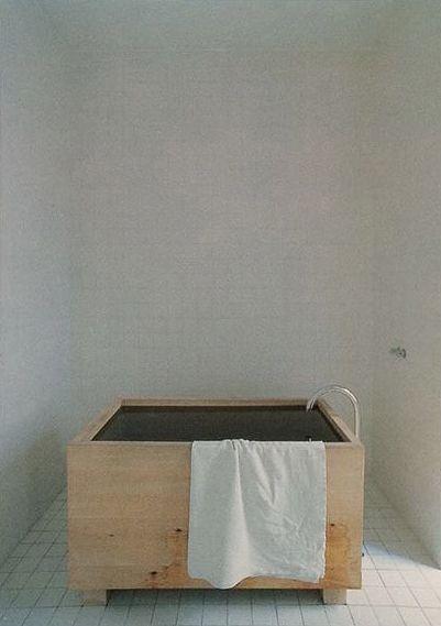John Pawson. wooden bathtub