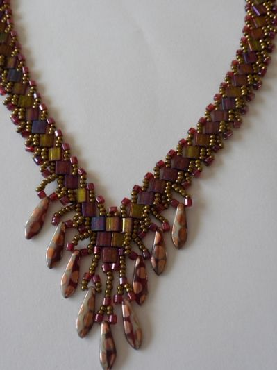 gorgeous tila beads here is my