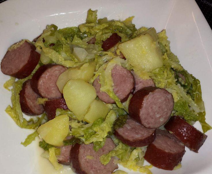 Rezept Wirsingeintopf mit Cabanossi (All in One) von ute1108 - Rezept der Kategorie Hauptgerichte mit Fleisch