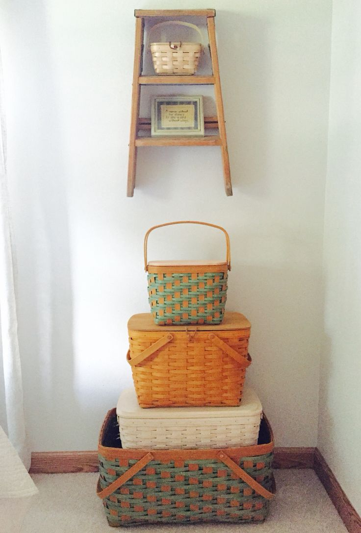Longaberger Baskets For Summer Fun. When Not In Use, A Wonderful Storage  Tower.