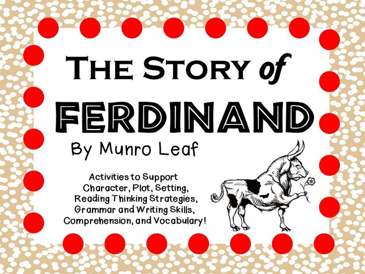 14 best february images on pinterest chinese language 1st grade the story of ferdinand by munro leaf a complete literature study from the teachers fandeluxe Images